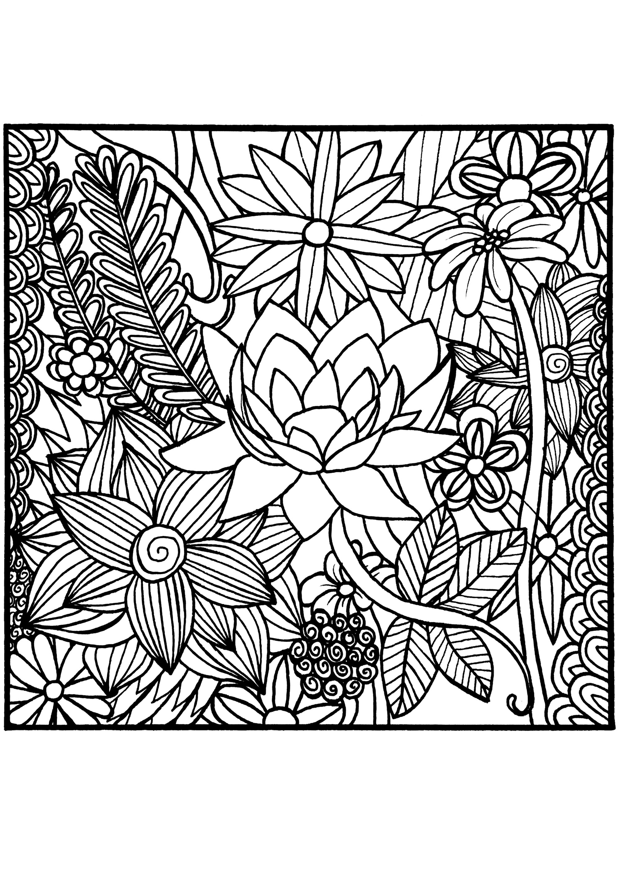 flower coloring pages adults flower celine flowers adult coloring pages coloring pages adults flower