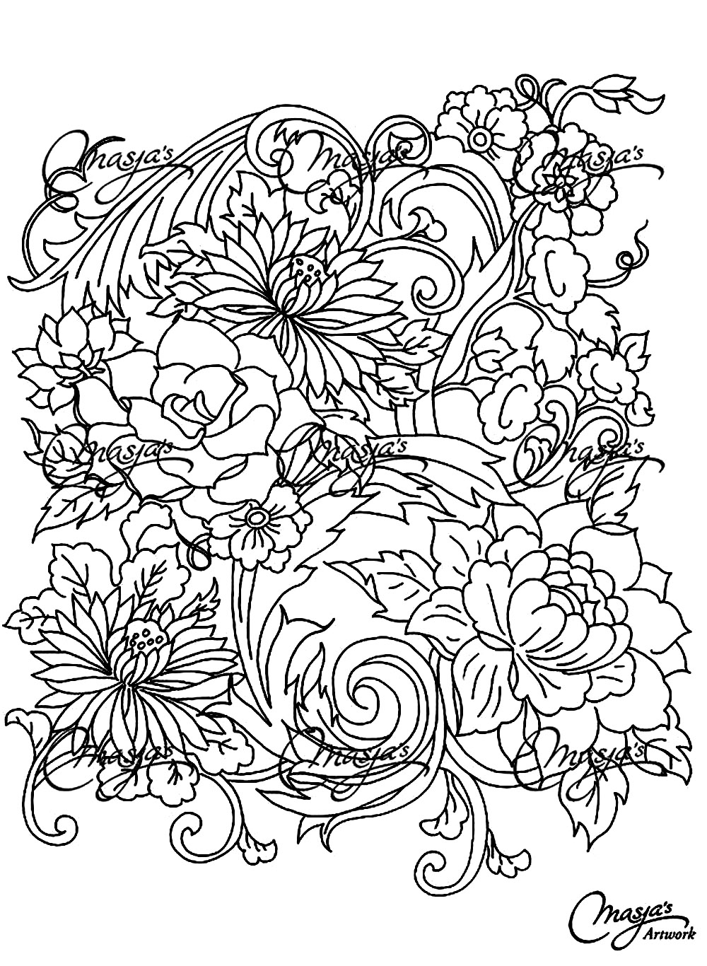 flower coloring pages adults flower coloring pages for adults best coloring pages for flower adults coloring pages