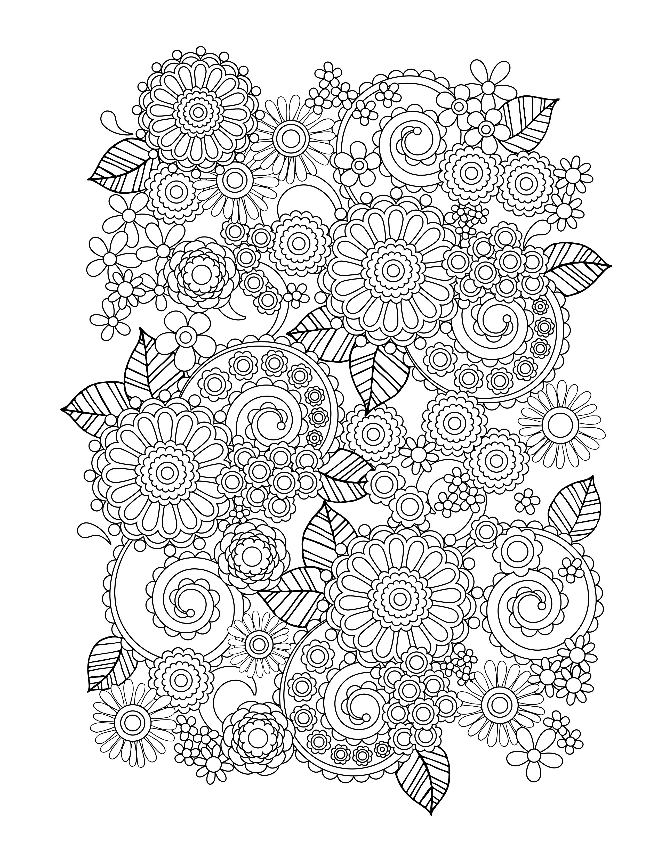 flower coloring pages adults flowers in two parts flowers adult coloring pages pages adults coloring flower