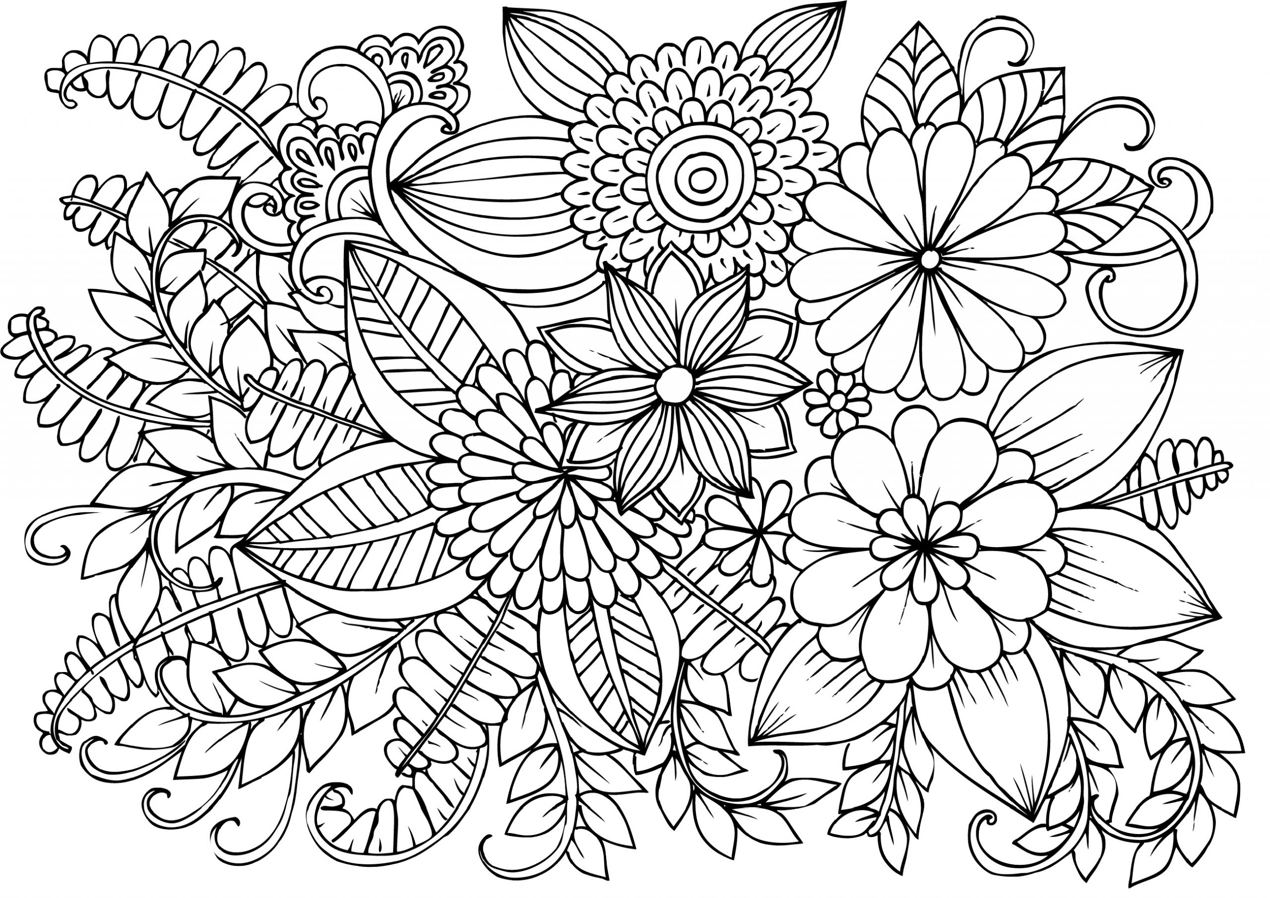 flower coloring pages adults free adult coloring pages 35 gorgeous printable coloring pages adults flower coloring