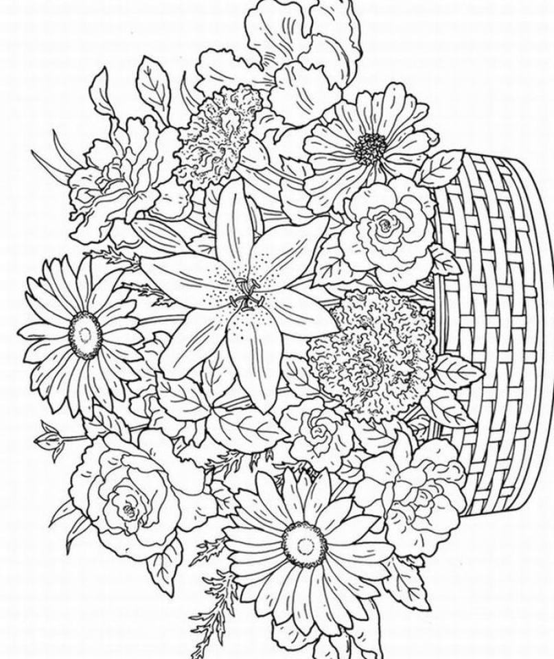 flower coloring pages adults fun and pretty coloring pages for adults with flowers and pages flower coloring adults