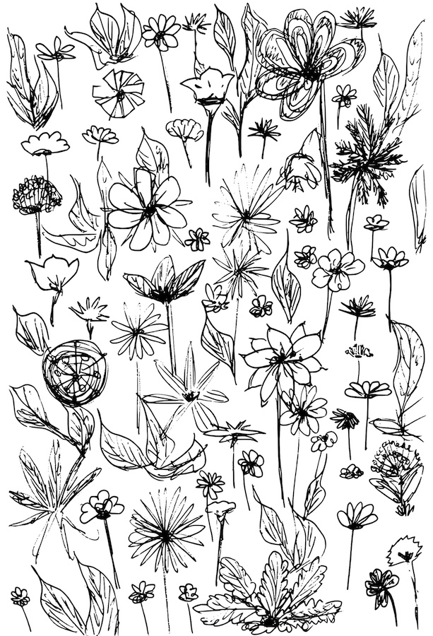 flower doodle coloring pages 46 best flower coloring pages images on pinterest flower pages doodle coloring