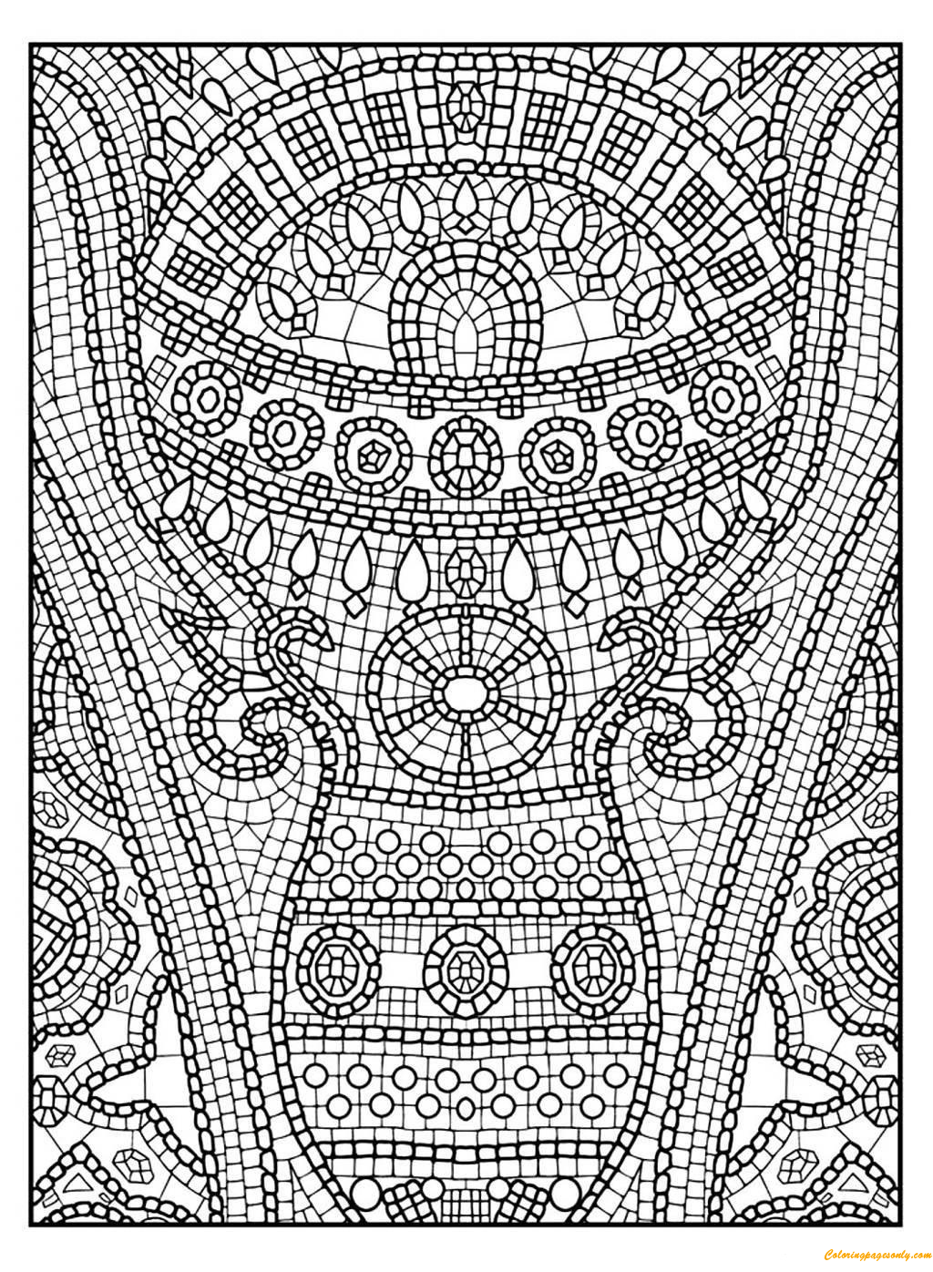 flower mosaic coloring pages 30 best kid39s dental coloring pages printables images on coloring mosaic flower pages