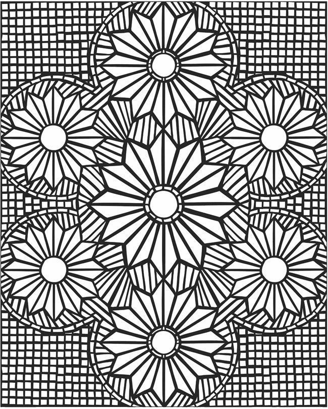 flower mosaic coloring pages mosaic patter coloring page download print online coloring mosaic pages flower