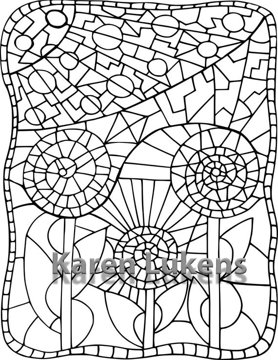 flower mosaic coloring pages mosaic patterns coloring pages coloring home flower coloring mosaic pages