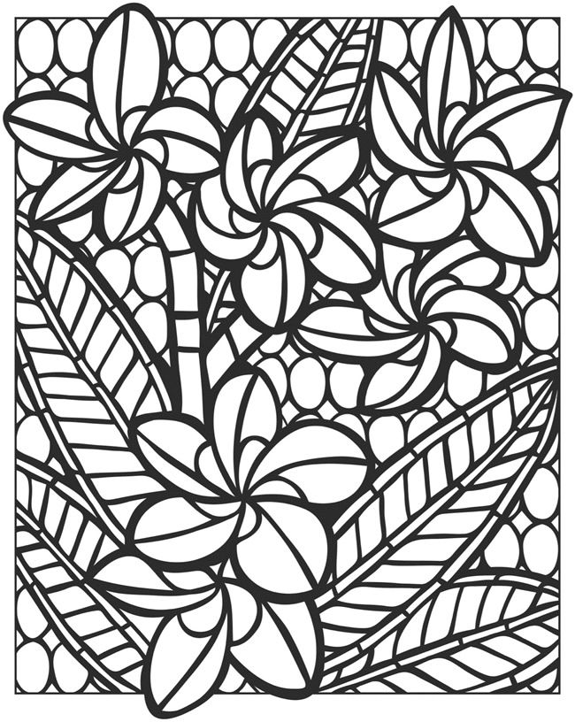 Flower mosaic coloring pages