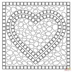 flower mosaic coloring pages traditional pattern mandala mosaic coloring page mosaic pages coloring flower