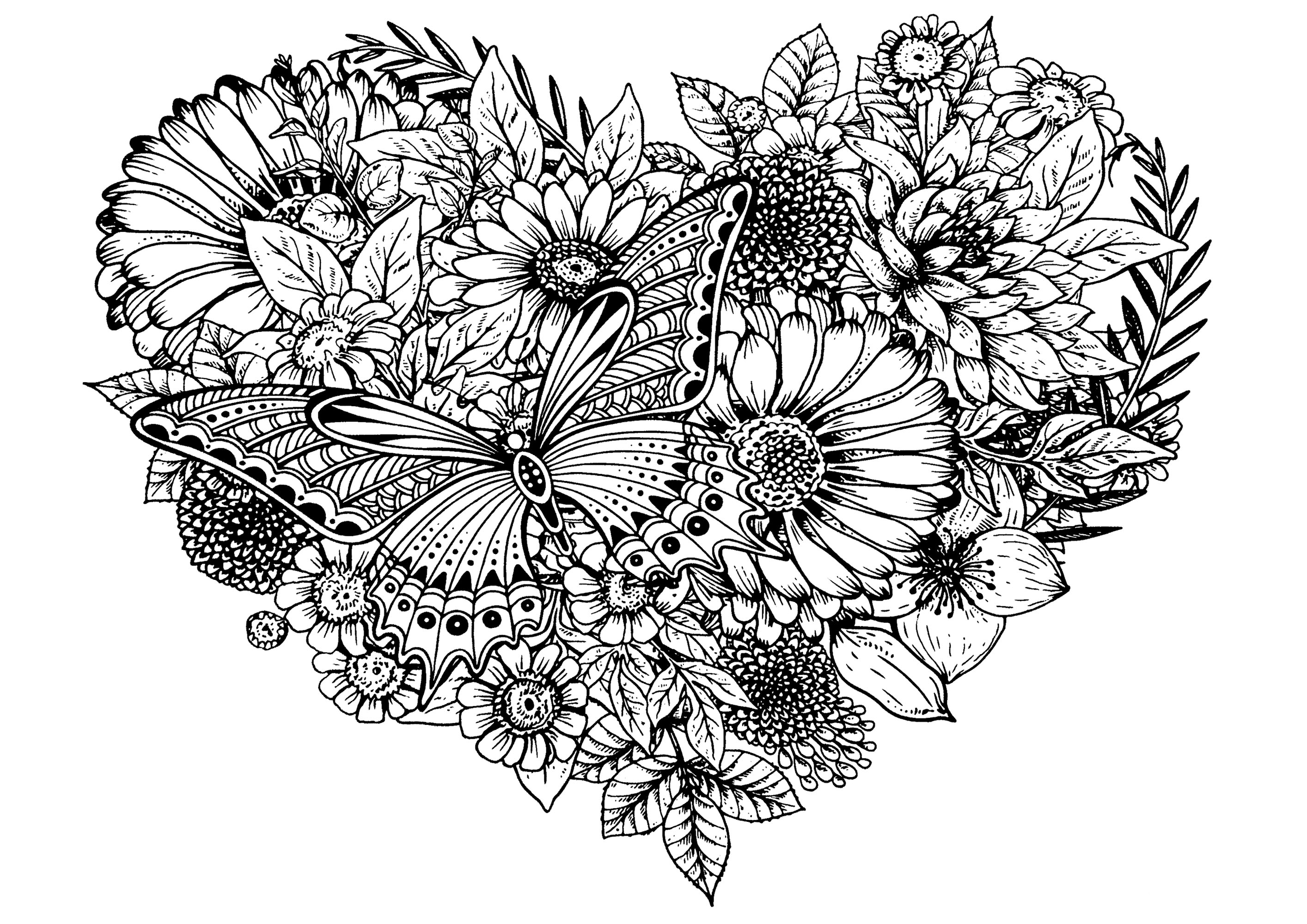 flower pictures coloring pages flowers butterfly flowers adult coloring pages pages coloring flower pictures