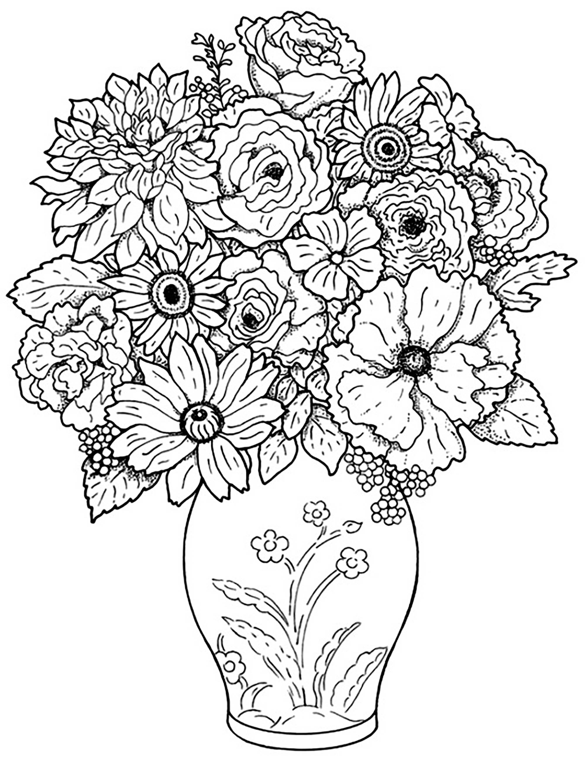 flower pictures coloring pages free printable flower coloring pages for kids best coloring pages pictures flower