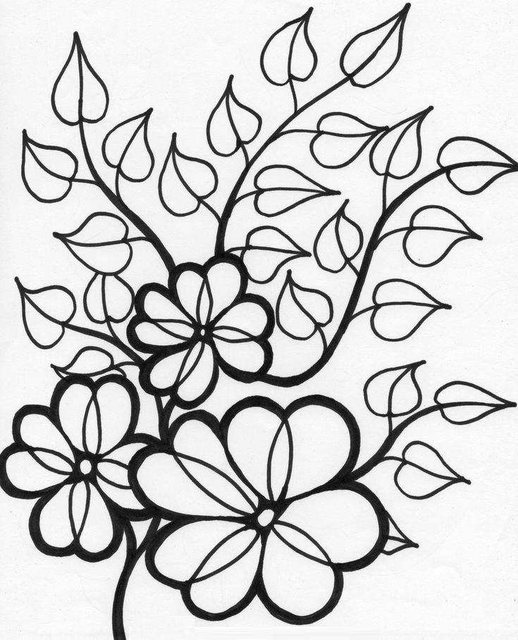 flower printable coloring pages bouquet of flowers coloring pages for childrens printable pages flower printable coloring