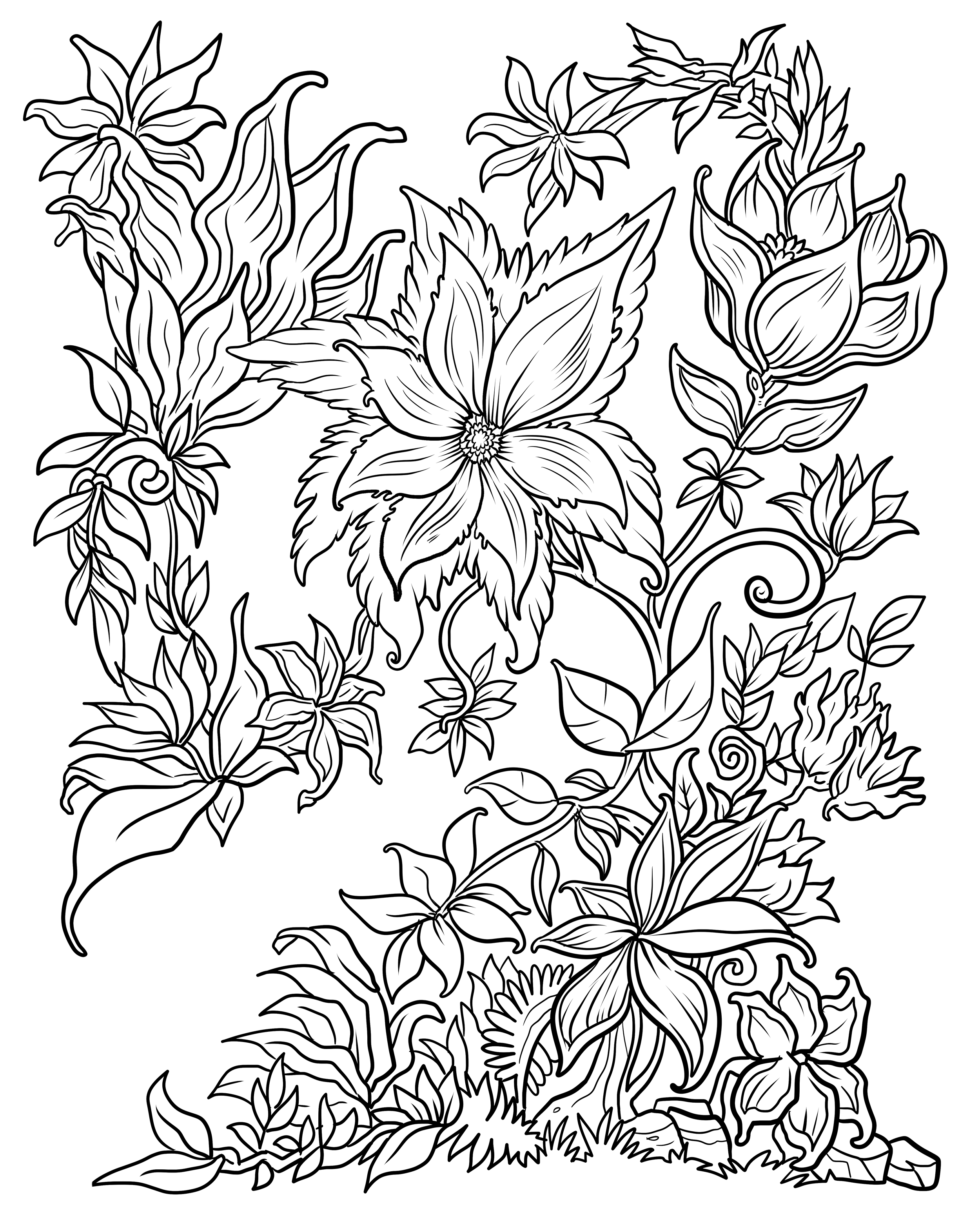 flower printable coloring pages detailed flower coloring pages to download and print for free printable coloring flower pages
