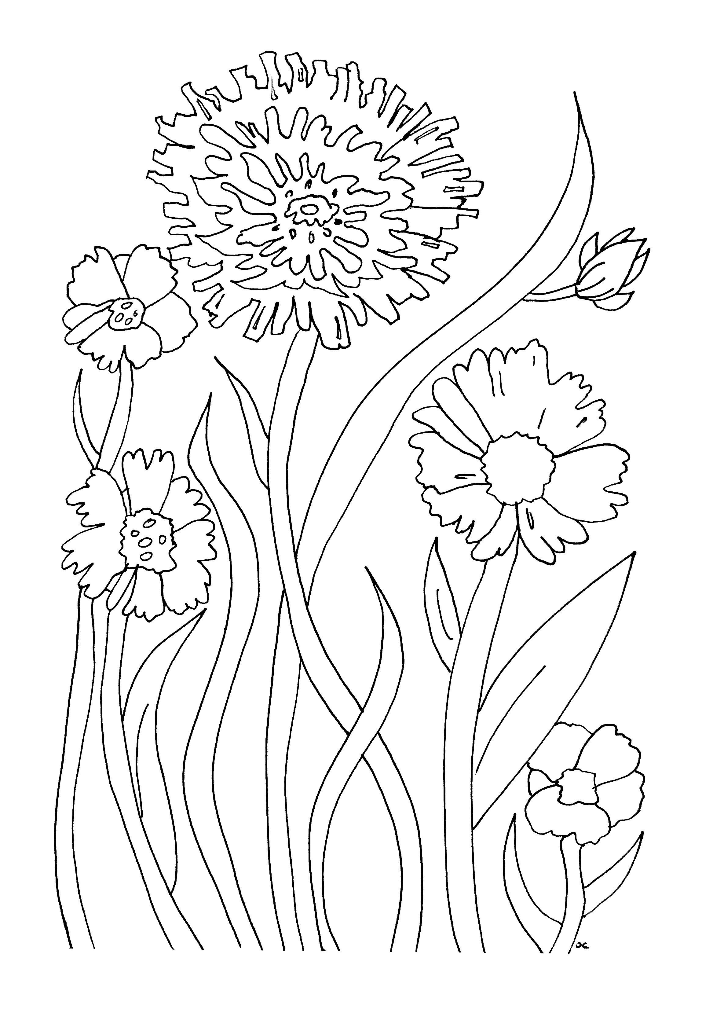 flower printable coloring pages free easy to print flower coloring pages tulamama coloring pages flower printable