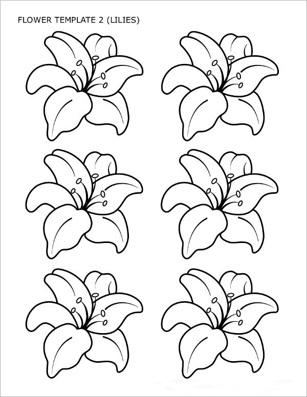flower printables floral coloring pages for adults best coloring pages for printables flower
