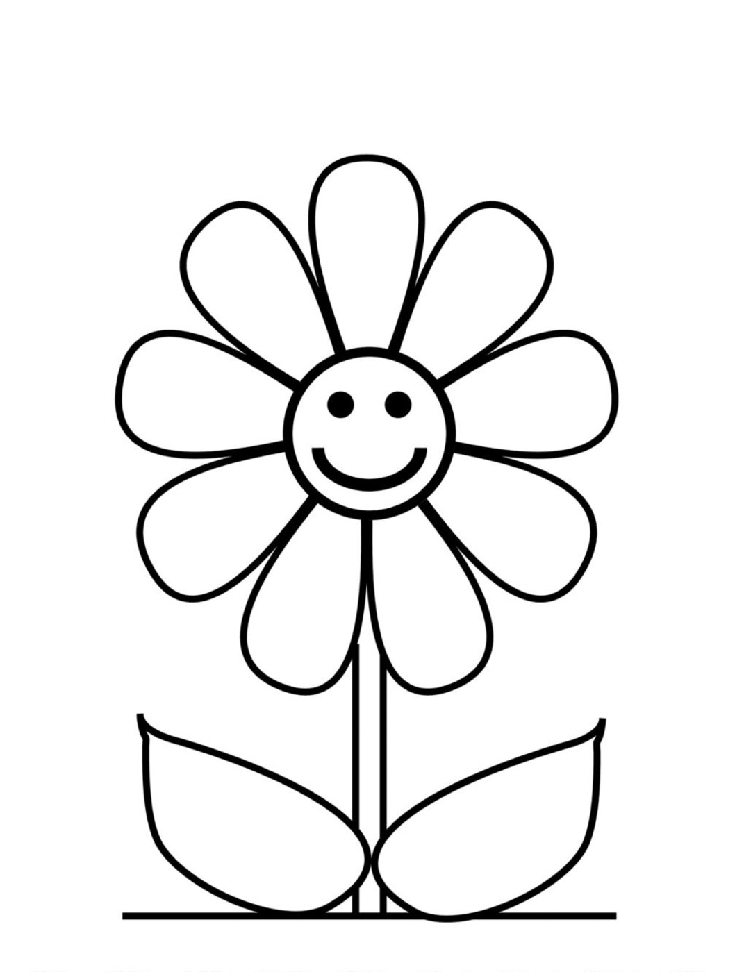 flower printables free easy to print flower coloring pages tulamama flower printables