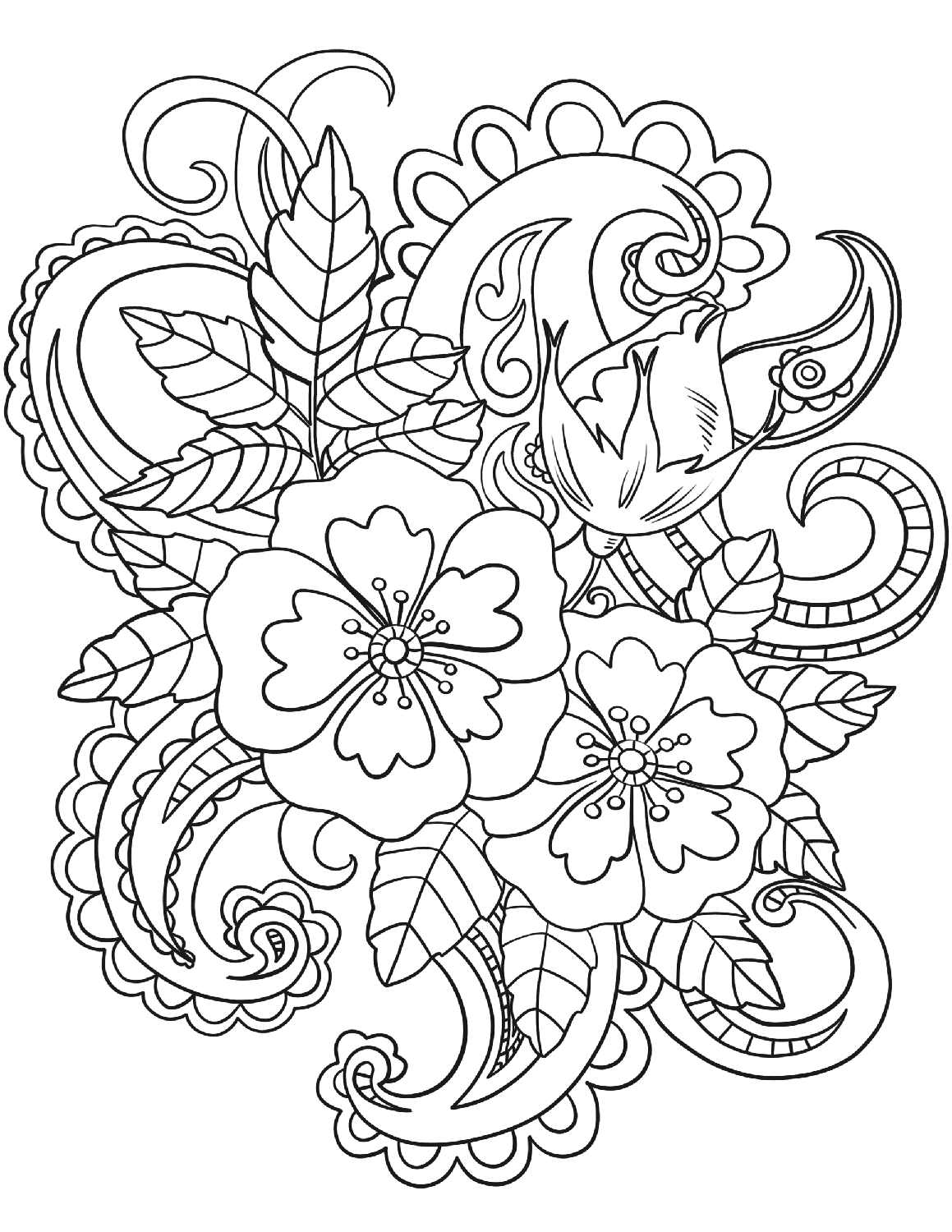 flower printables print download some common variations of the flower flower printables