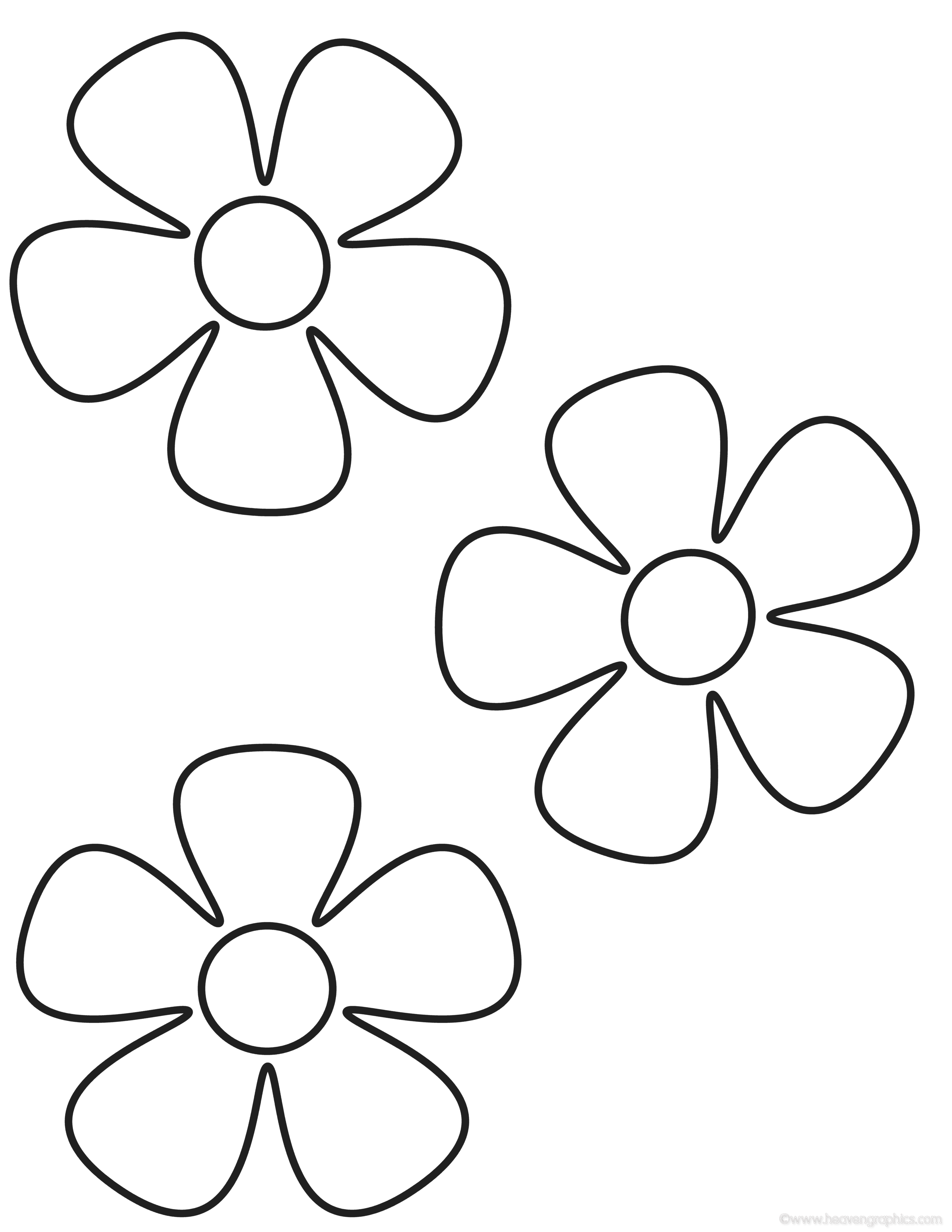 flower printables print download some common variations of the flower flower printables 1 1