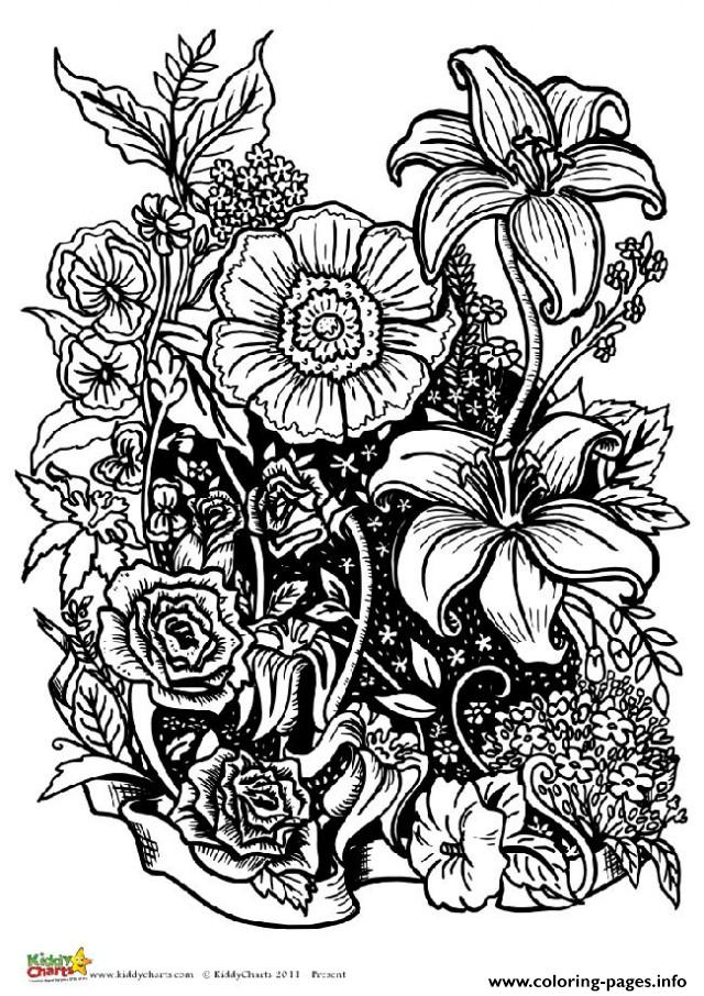 flowers color pages flower coloring coloring pages free for kids color flowers pages