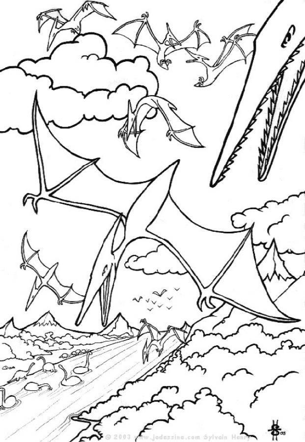 flying dinosaur coloring pages flying reptiles and pterodactylus coloring pages pages coloring dinosaur flying