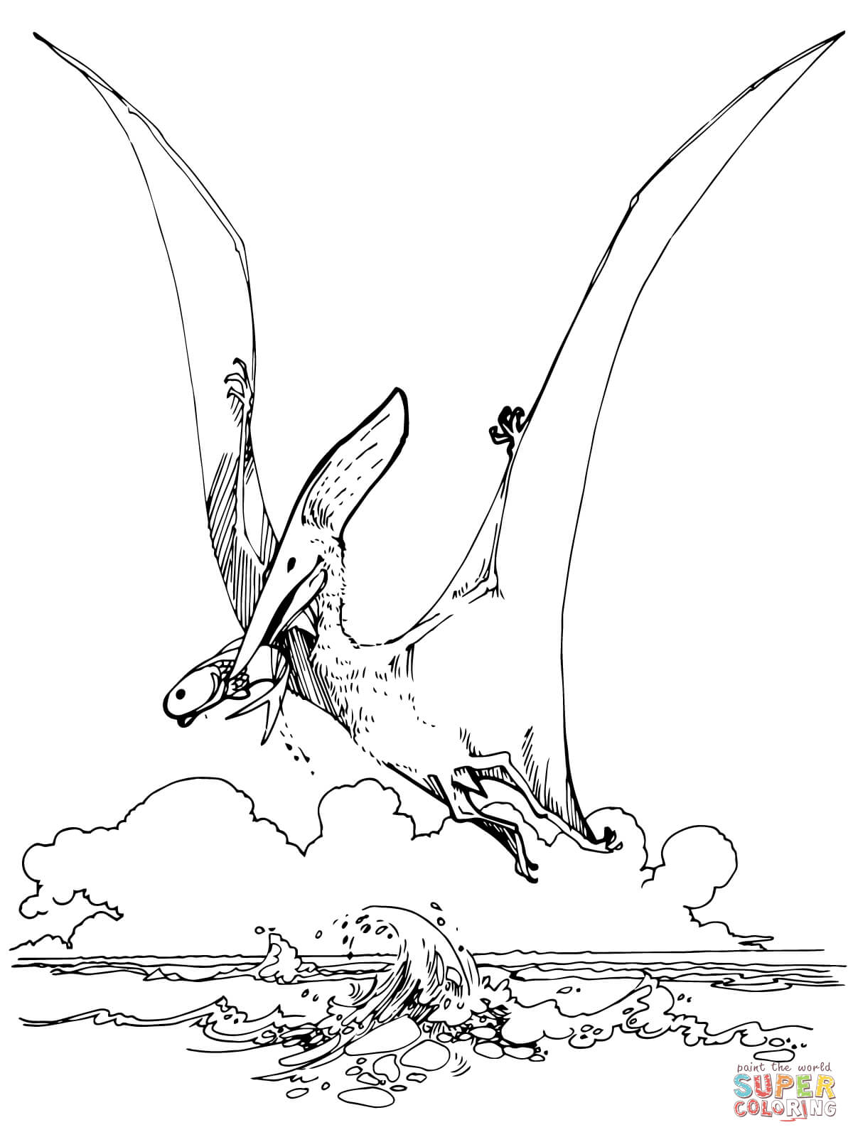flying dinosaur coloring pages pterodactyl coloring page coloringnori coloring pages coloring dinosaur pages flying