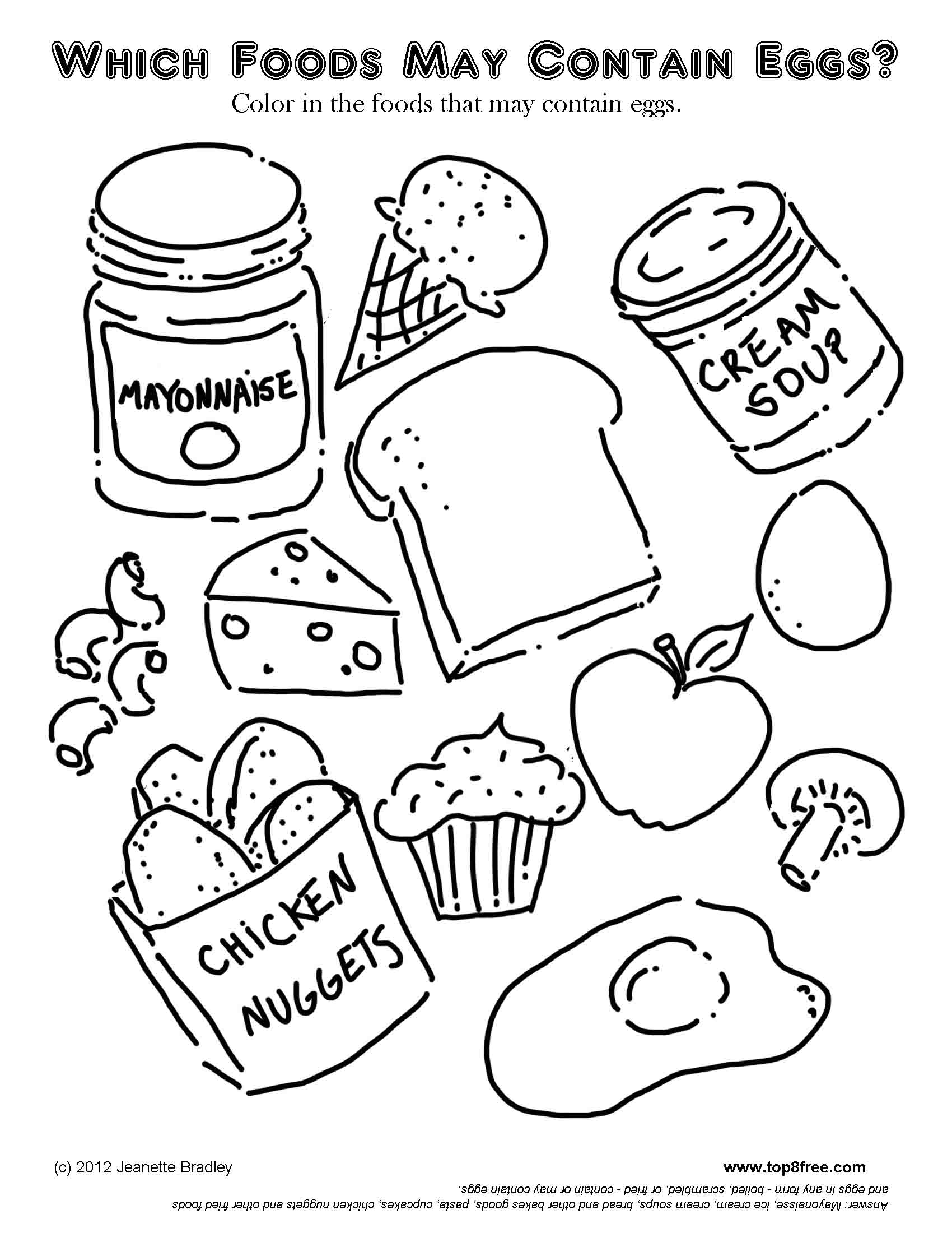 food coloring book cute foods coloring pages free coloring home book food coloring
