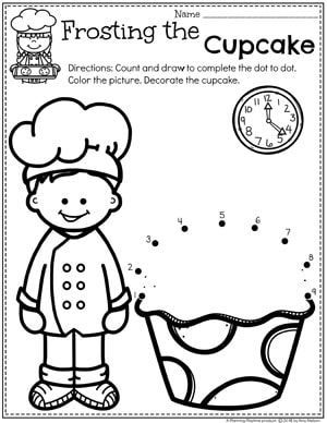 food themed coloring pages preschool dot to dot coloring page cupcake baking coloring pages food themed