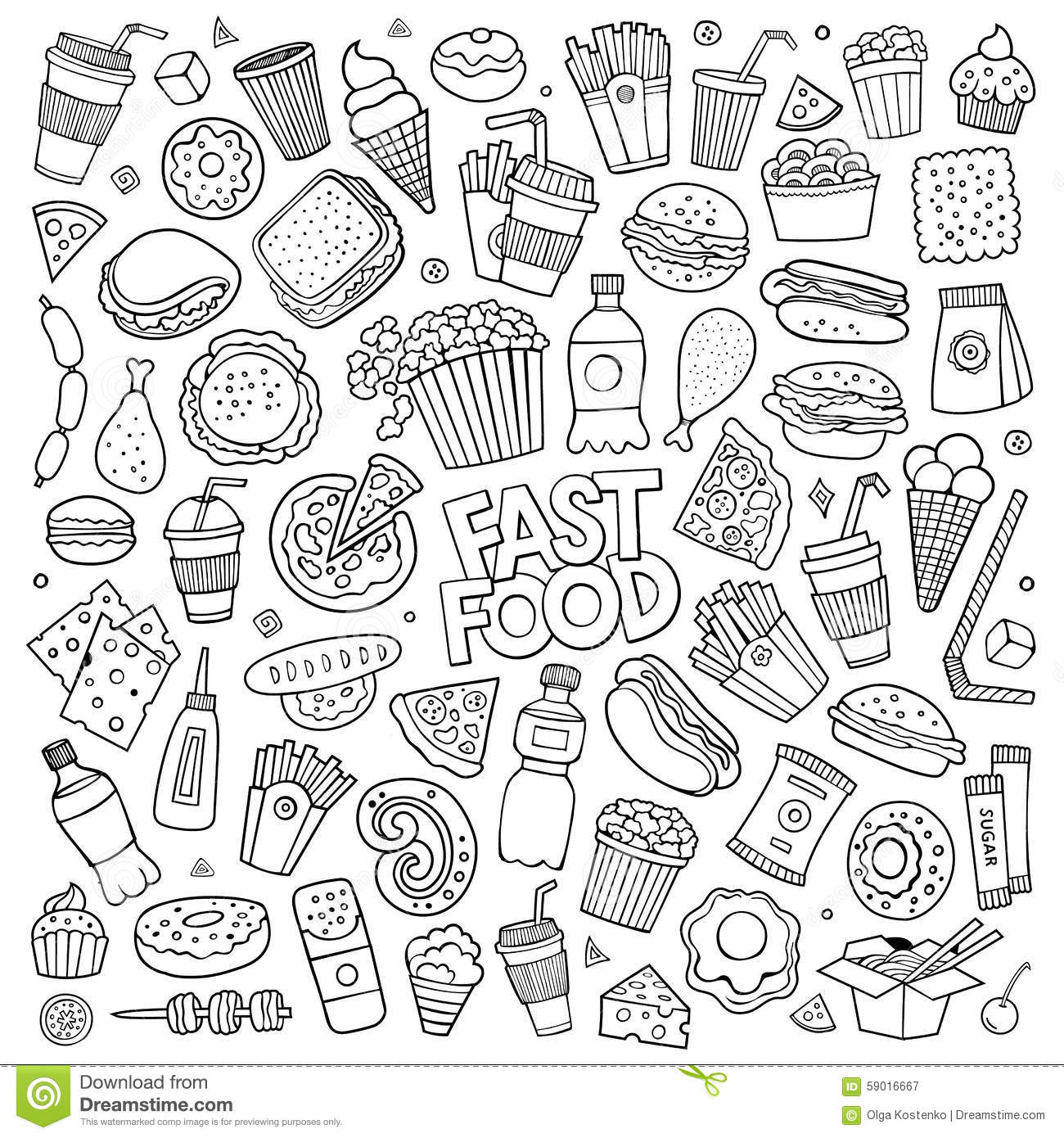 food themed coloring pages sweet drawing stock images royalty free images vectors themed food coloring pages