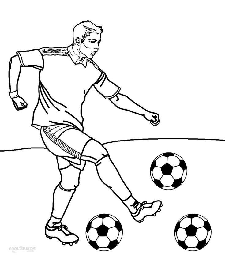 Football colouring pages