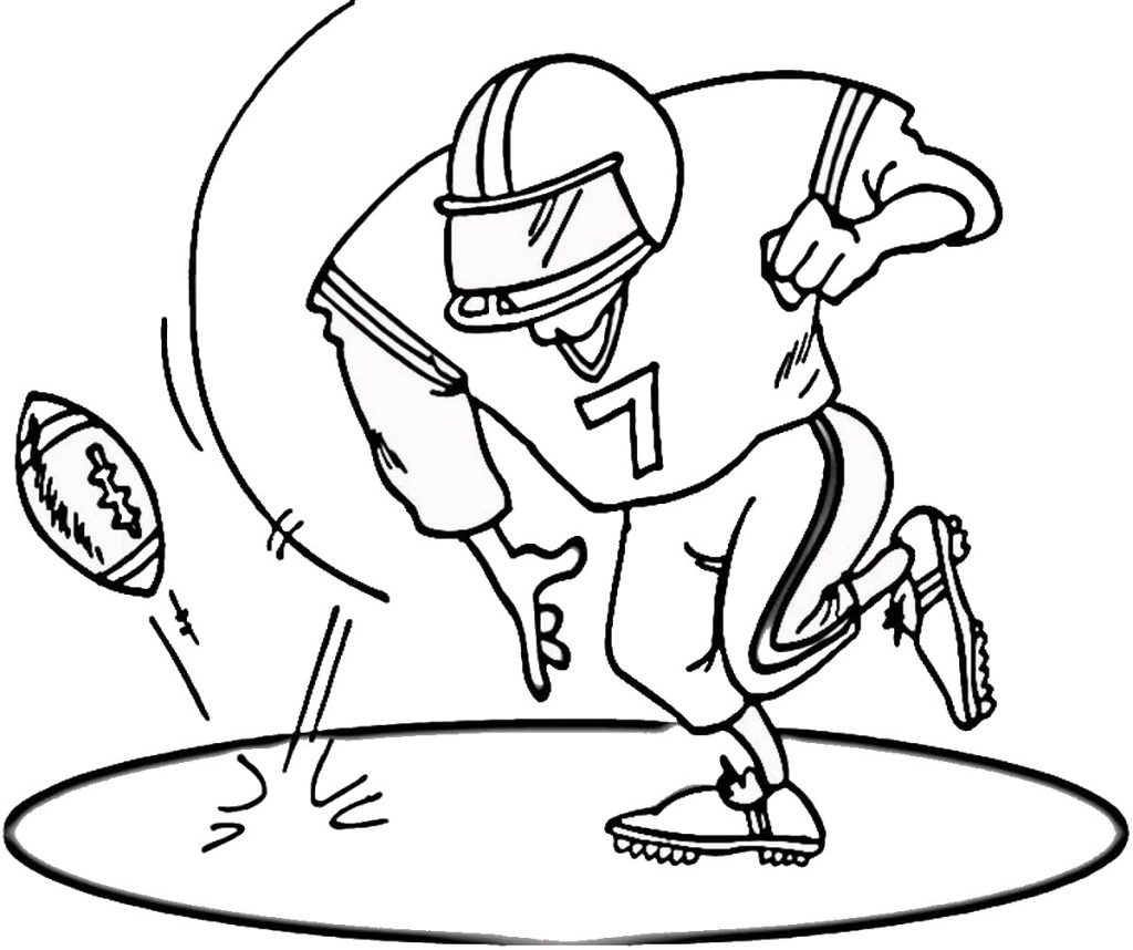 football pictures to color printable football player coloring pages for kids football color to pictures