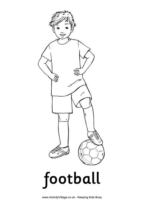 football player coloring pictures football boy colouring page player football pictures coloring