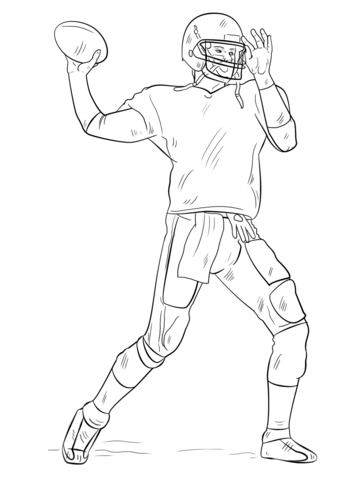 football player coloring pictures football player coloring page free printable coloring pages player coloring football pictures