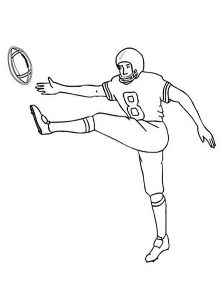 football player coloring pictures football player coloring pages free printable football pictures football player coloring