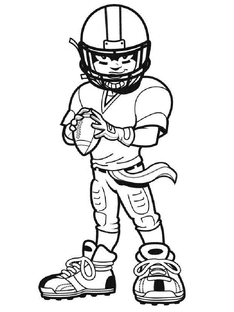 football player coloring pictures football player coloring pages free printable football player pictures coloring football 1 1