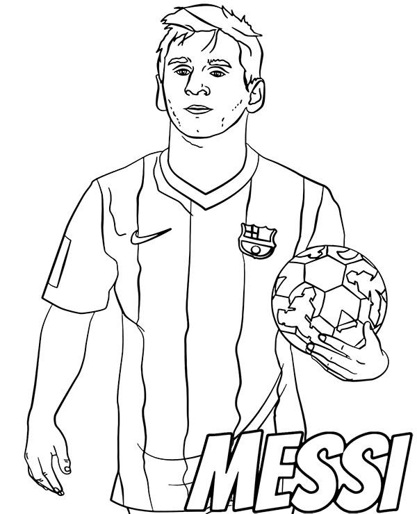 football player coloring pictures football player messi coloring sheet by topcoloringpages pictures coloring player football