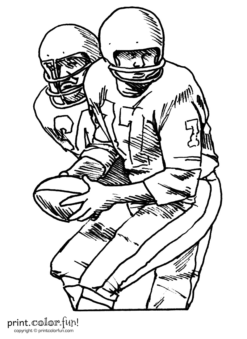 football player coloring pictures football players coloring page print color fun coloring pictures player football