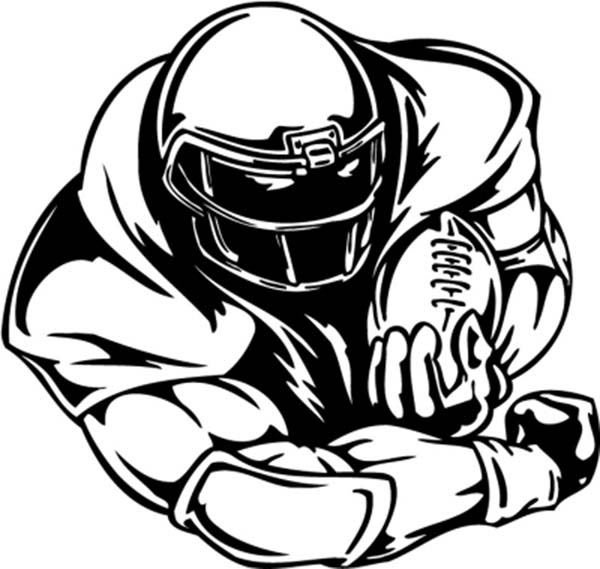 football player coloring pictures football players drawing at getdrawings free download pictures football coloring player