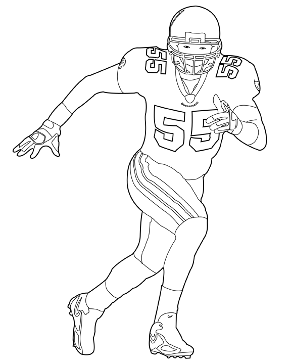 football player coloring pictures nfl football players drawing at getdrawings free download player coloring pictures football