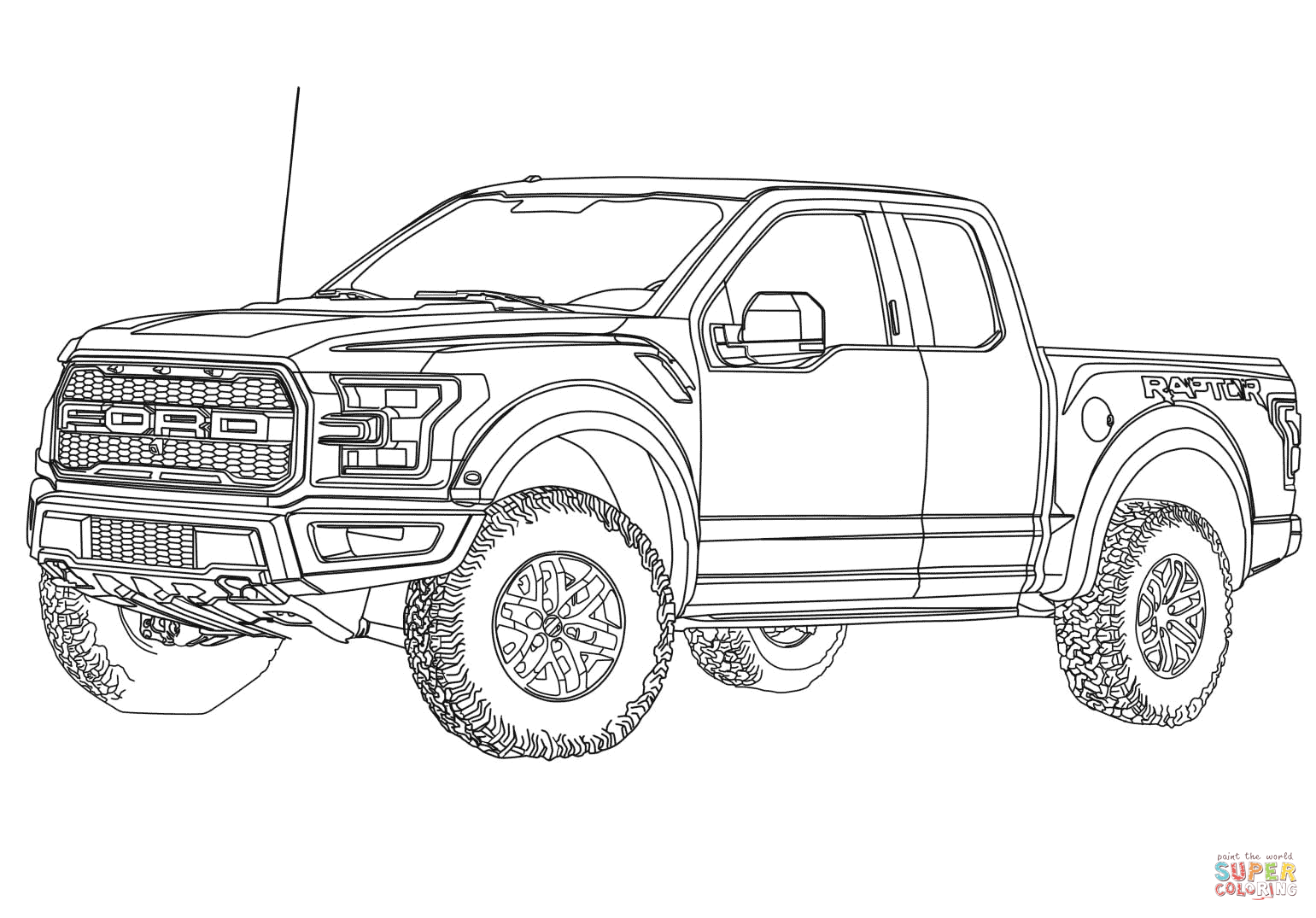 Ford raptor coloring