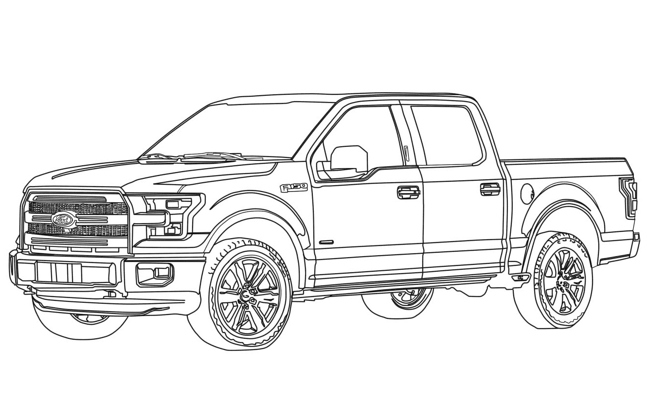 ford raptor coloring ford raptor drawing at getdrawings free download raptor coloring ford