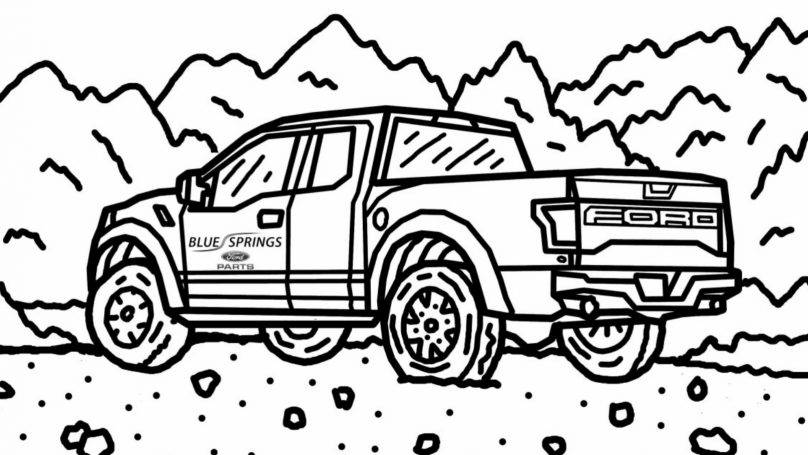 ford raptor coloring ford raptor drawing at getdrawings free download raptor ford coloring