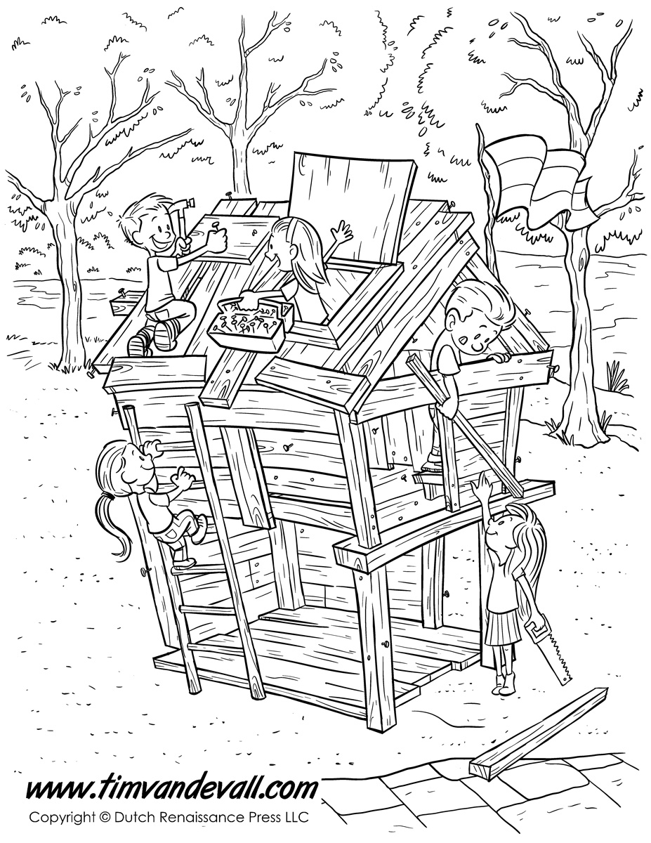 Fort coloring pages