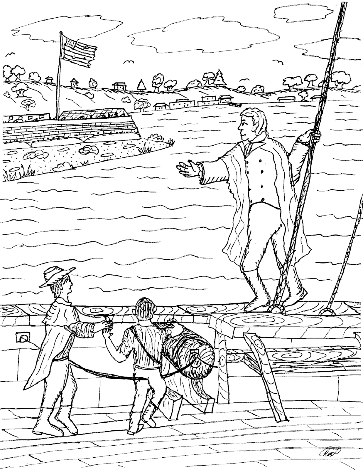 fort coloring pages robin39s great coloring pages battle of baltimore fort pages fort coloring