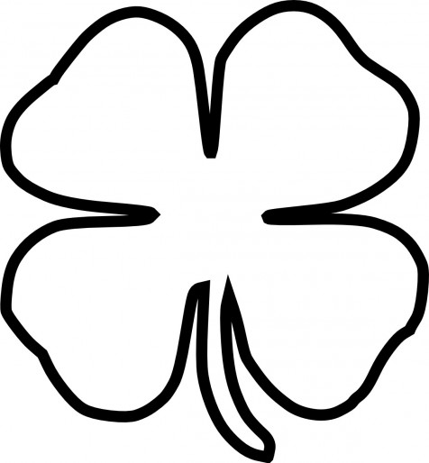 four leaf clover outline printable four leaf clover coloring pages best coloring pages for kids clover leaf printable four outline