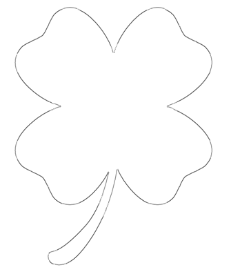 four leaf clover outline printable four leaf clover coloring pages best coloring pages for kids leaf printable clover four outline