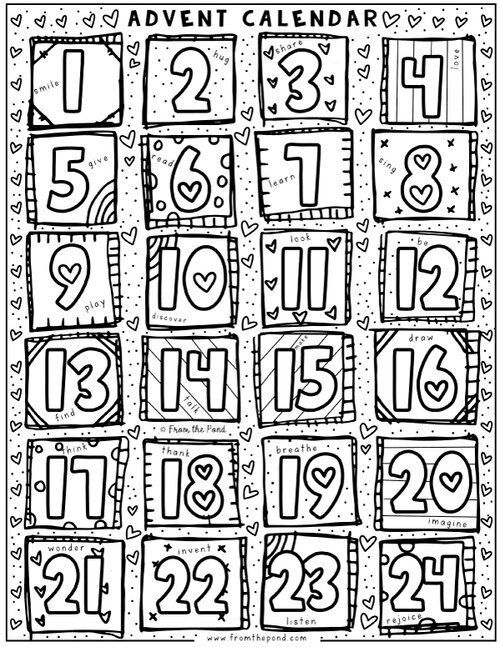 free advent calendar coloring pages fun nativity craft idea advent calendars for kids free coloring calendar pages advent