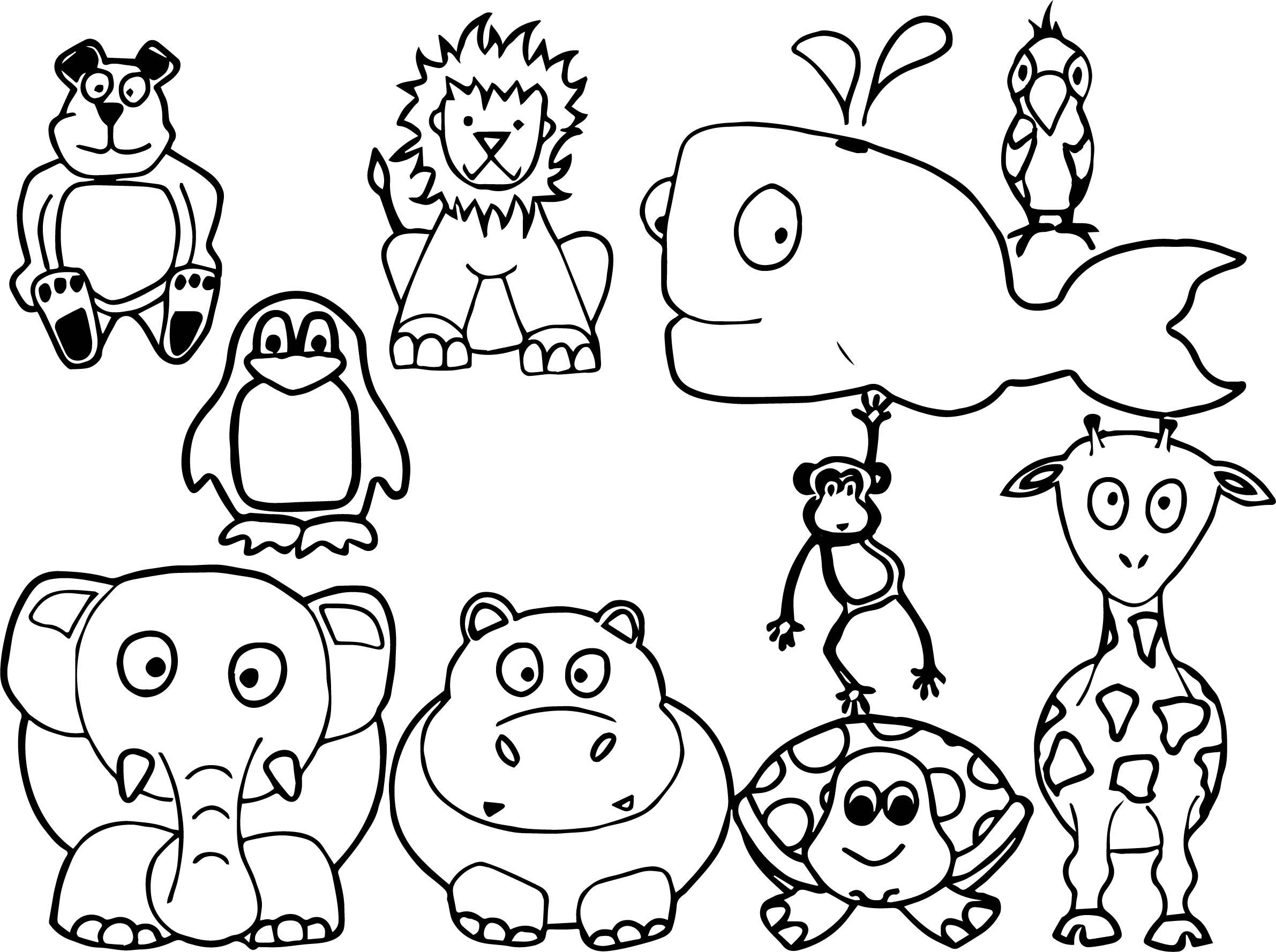 Free animal coloring pages for kids