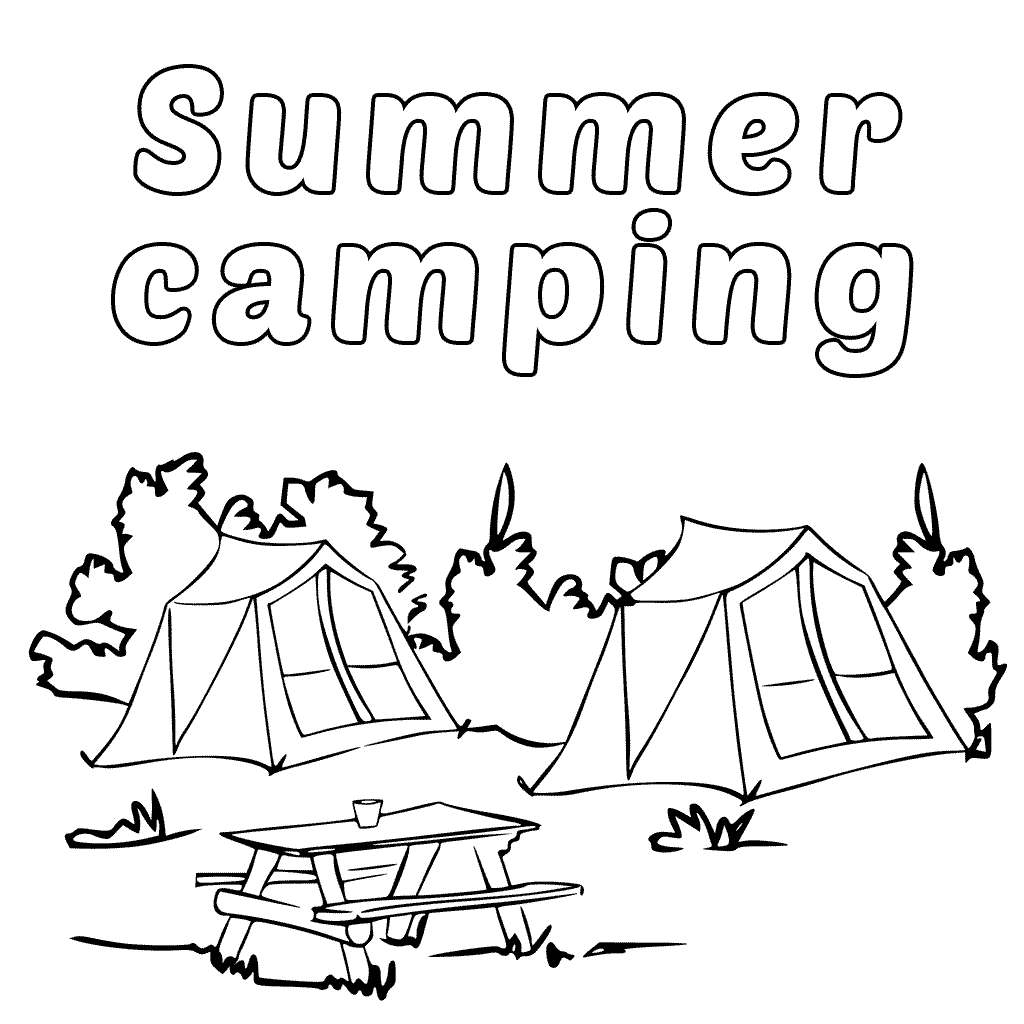 free camping coloring pages camping coloring pages best coloring pages for kids camping coloring pages free
