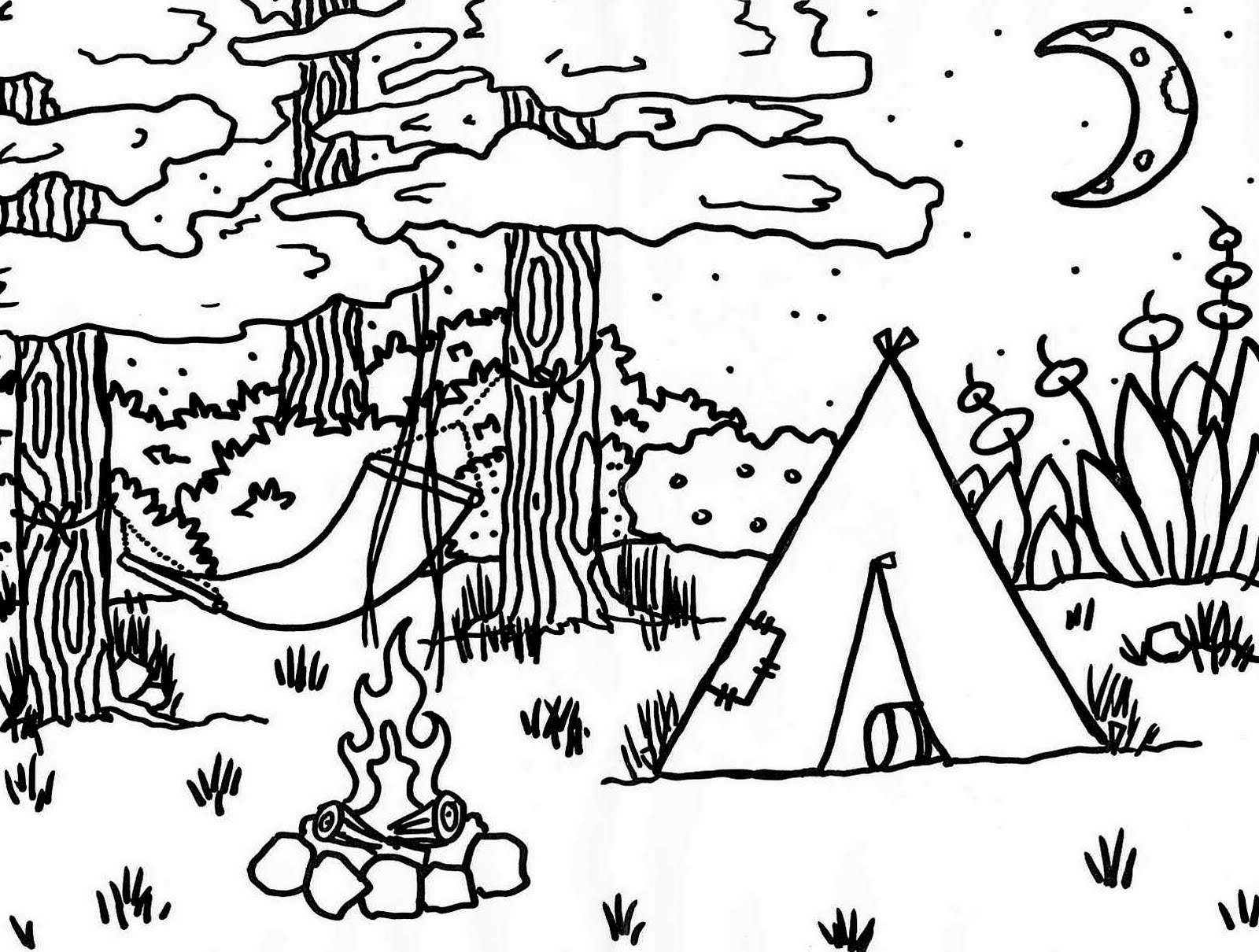 free camping coloring pages camping coloring pages best coloring pages for kids free camping coloring pages