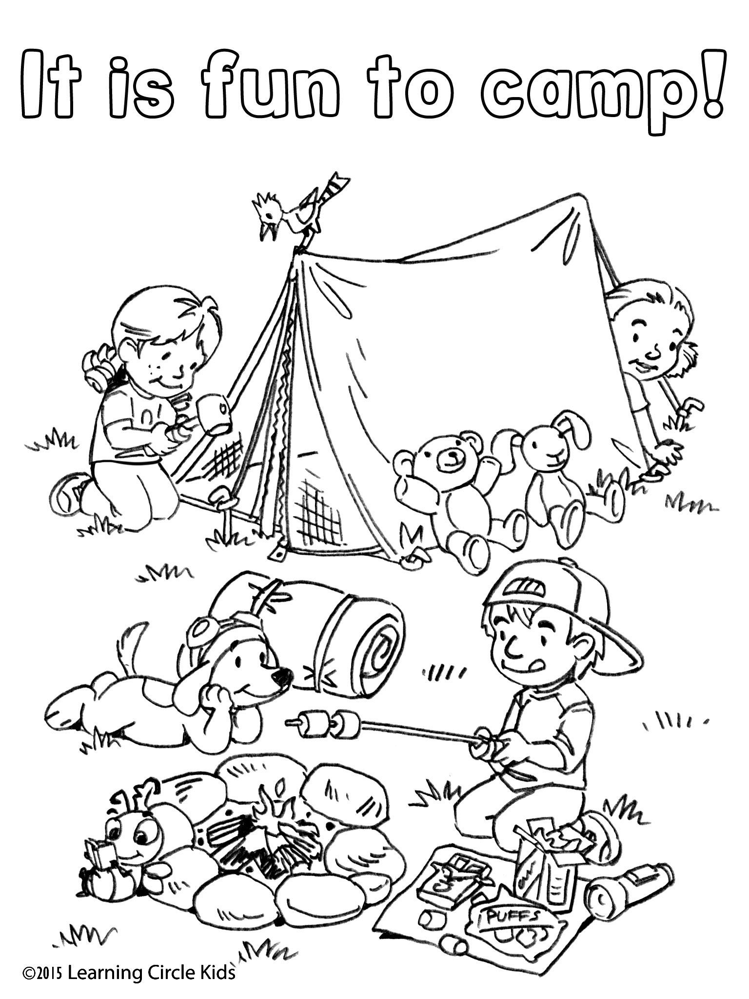free camping coloring pages camping coloring pages for childrens printable for free coloring free pages camping
