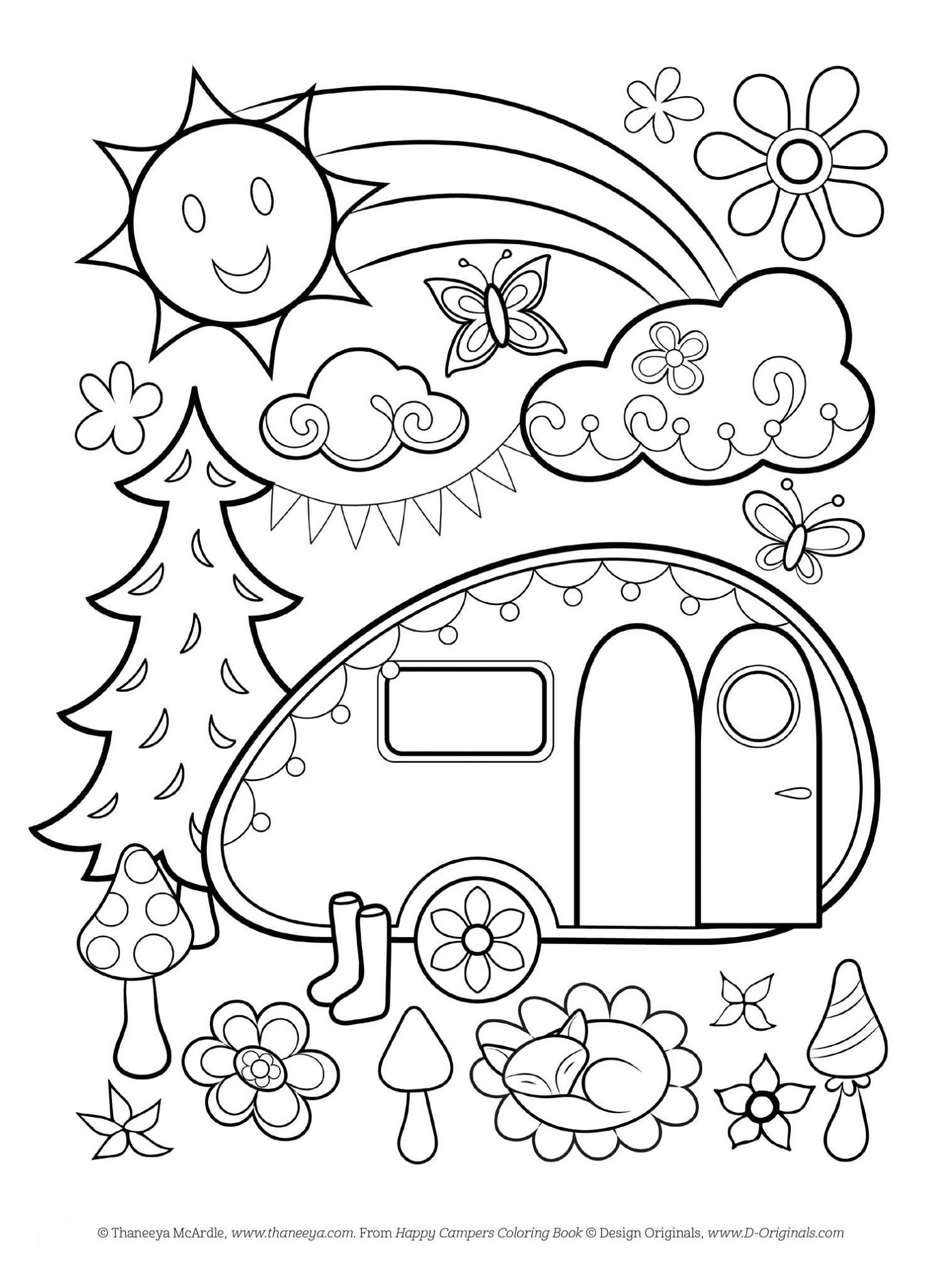free camping coloring pages free happy campers coloring page by thaneeya mcardlejpg camping pages coloring free