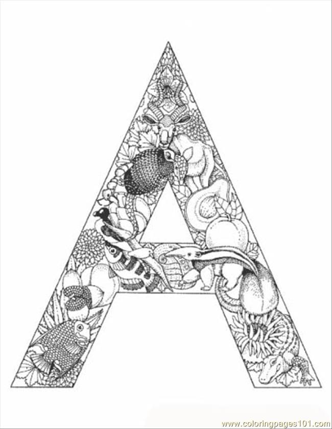 free coloring letters alphabet coloring pages pdf at getcoloringscom free letters coloring free